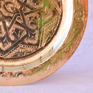 Handmade homeware green table setting dinnerware gold brass underplate